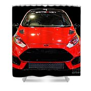 Red Fiesta Mk7.5 Shower Curtain