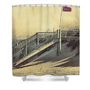 Red Flag Day Shower Curtain
