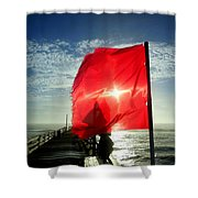 Red Flag Warning Sunrise 3 9/30 Shower Curtain