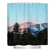 Red Flagging Shower Curtain