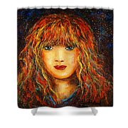 Red Flame Shower Curtain