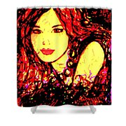 Red Flirt Shower Curtain