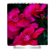 Red Floral Study Shower Curtain by David Lane