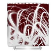 Red Flow2 Shower Curtain