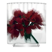 Red Flower Motion Shower Curtain