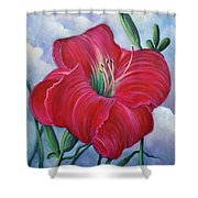 Red Flower Dreams Shower Curtain