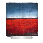 Red Flowering - Poppies Shower Curtain