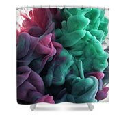 Red Folds Shower Curtain