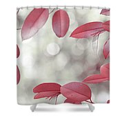 Red Foliage. Silver Light Shower Curtain