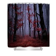 Red Forest 2 Shower Curtain