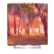 Red Forest Shower Curtain