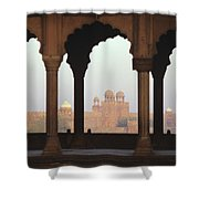 Red Fort From The Jama Masjid Shower Curtain