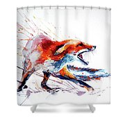 Red Fox /big Shower Curtain