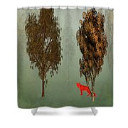Red Fox Forest Shower Curtain