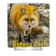 Red Fox Nature Girl Shower Curtain