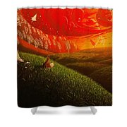 Red Fox..peaceful Shower Curtain