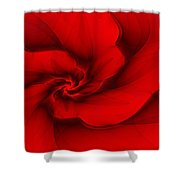 Red Fractal 080910 Shower Curtain