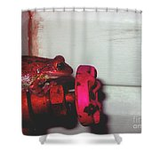 Red Frog Shower Curtain