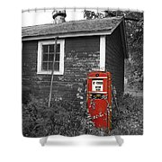 Red Gas Pump Shower Curtain