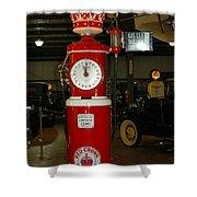 Red Gas Pump Shower Curtain