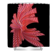 Red Glass Abstract Shower Curtain