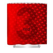 Red God Three Shower Curtain