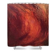 Red-gold Shower Curtain