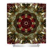 Red Gold Kaleidoscope 2 Shower Curtain