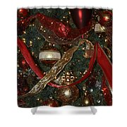 Red Gold Tree No 1 Fashions For Evergreens Event Hotel Roanoke 2009 Shower Curtain
