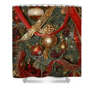 Red Gold Tree No 2 Fashions For Evergreens Event Hotel Roanoke 2009 Shower Curtain