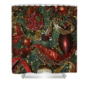 Red Gold Tree No 3 Fashions For Evergreens Event Hotel Roanoke 2009 Shower Curtain