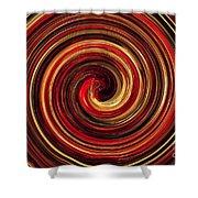 Have A Closer Look. Red-golden Spiral Art Shower Curtain
