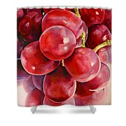 Red Grape Reflections Shower Curtain