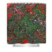 Red Green Blue Compressed Shower Curtain