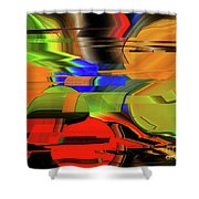 Red Green Yellow Blue Shower Curtain