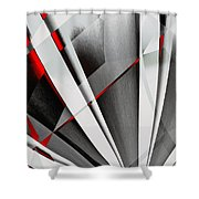 Red-grey Abstractum Shower Curtain
