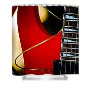 Red Guitar Shower Curtain by Hakon Soreide
