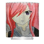 Red Haired  Shower Curtain