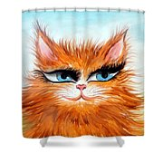Red-haired Sofia The Cat Shower Curtain