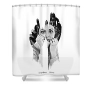 Red Handed Shower Curtain