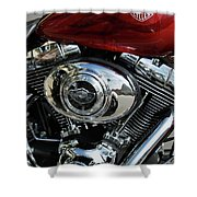 Red Harley Shower Curtain