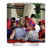 Red Hat Day Shower Curtain
