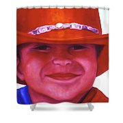 Red Hat Girl Shower Curtain