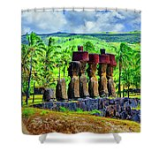 Red Hats Shower Curtain