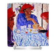 Red Hatters Chatter Shower Curtain