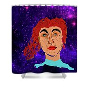 Red Head1 Shower Curtain