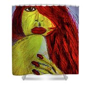 Red Headed Step Child Shower Curtain