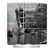 Red Heart In Paris Shower Curtain
