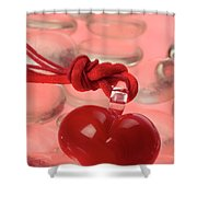Red Heart Of Love Shower Curtain
