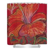 Red Hibiscus #1 Shower Curtain